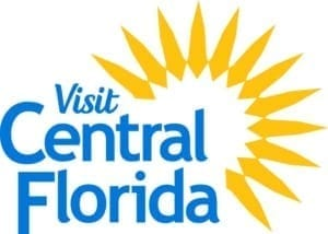Visit Central Florida logo with bright sun